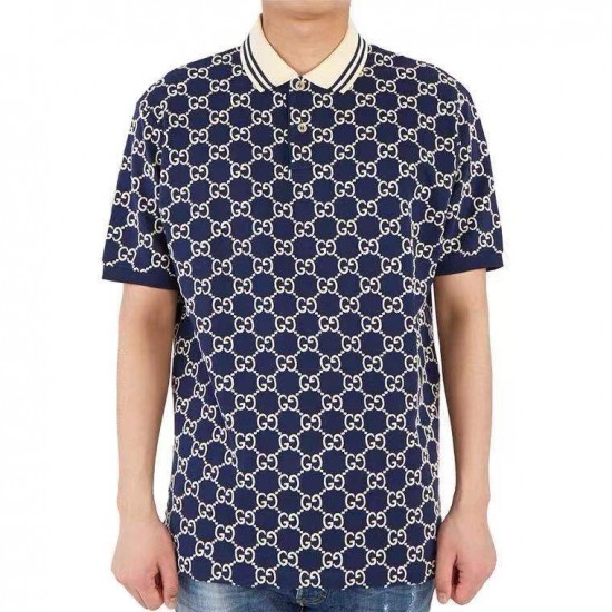 Gucci pattern embroidery Polo 2021