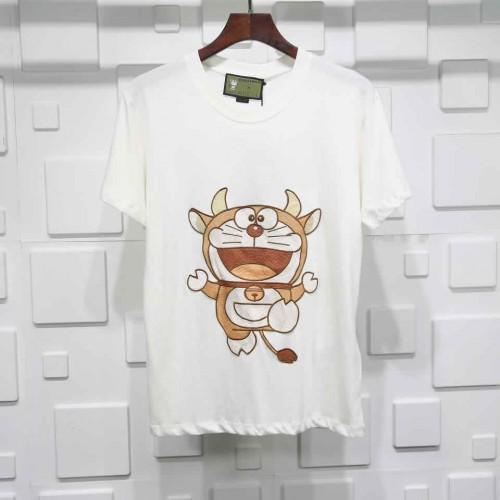 Gucci Doraemon T-shirt embroidery Pure cotton Mens WMNS