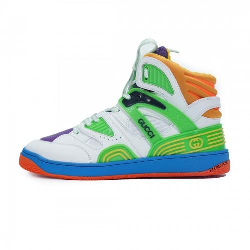 Gucci Basketball shoes Basket White Green Purple