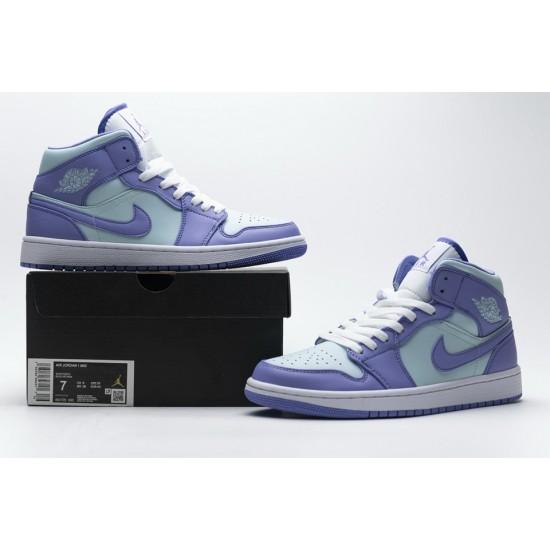 Nike Air Jordan 1 Mid Purple Aqua Blue 554725-500