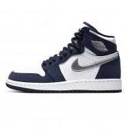 "Nike AIR JORDAN 1 HIGH OG CO.JP ""MIDNIGHT NAVY"" MENS DC1788-100 GS 575441-141"