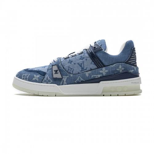 Louis Vuitton Blue denim Trainer Sneaker