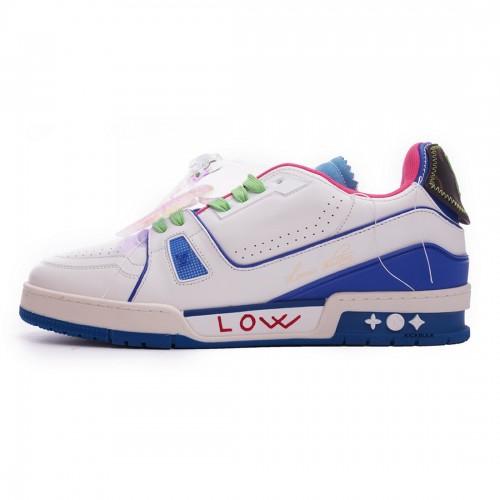 Louis Vuitton Trainer White Pink Blue MS0223