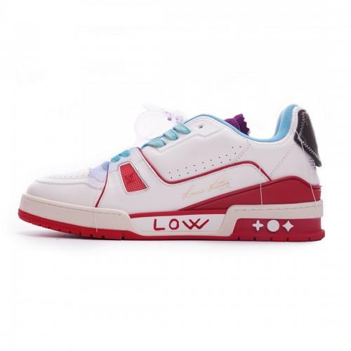 Louis Vuitton Trainer White Blue Purple