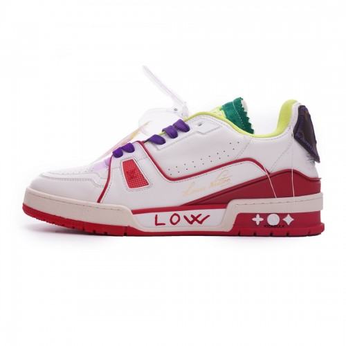 Louis Vuitton Trainer White Yellow Green 2021