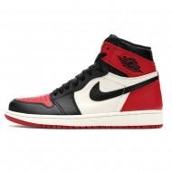 Nike Jordan 1 Retro High OG Red/Black/White 'Bred Toe' 555088-610