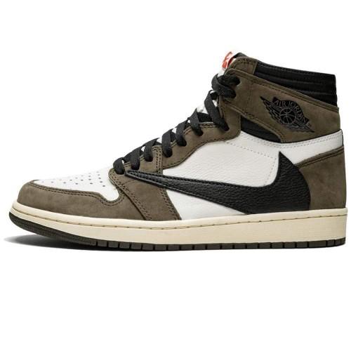 Nike Travis Scott X Jordan 1 Backwards Swoosh Mocha CD4487-100