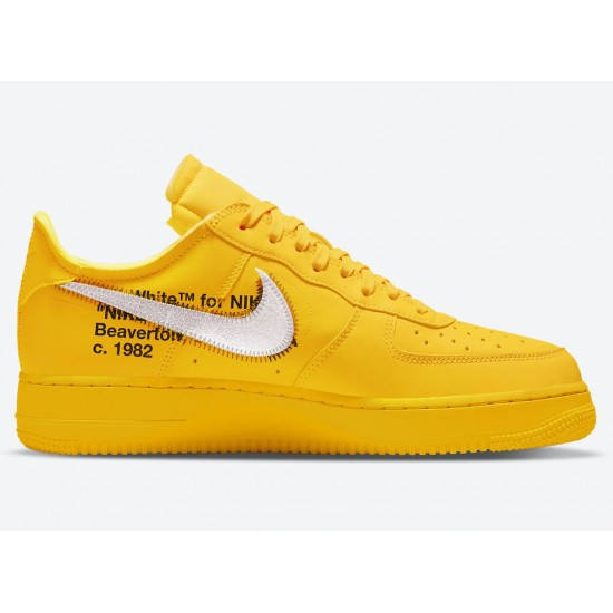 OFF-WHITE X AIR FORCE 1 LOW 'UNIVERSITY GOLD' DD1876-700