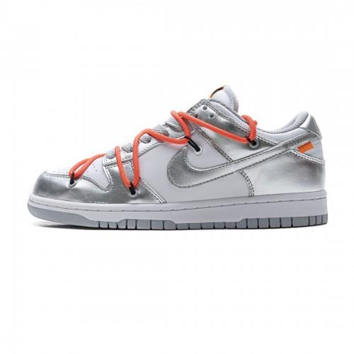 OFF White x Nike Dunk SB Low Silver White CT0856-800