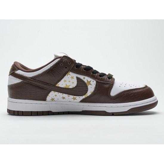 Supreme x Nike SB Dunk Low 'Brown Stars' DH3228-103