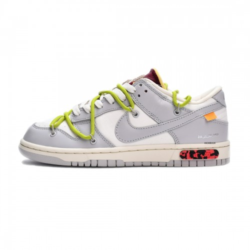 Off-White x Nike Dunk Low LOT 08 of 50 White Grey DM1602-106