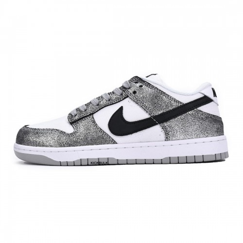 Nike Dunk Low Silver Cracked Leather Shimmer DO5882-001