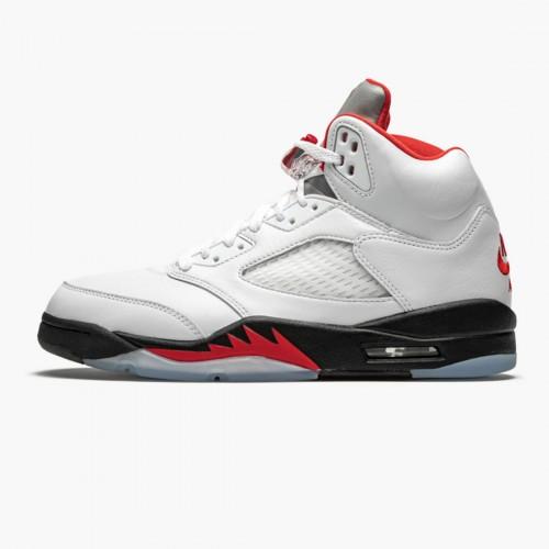 """Nike AIR JORDAN 5 RETRO """"FIRE RED SILVER TONGUE 2020"""" DA1911-102"""