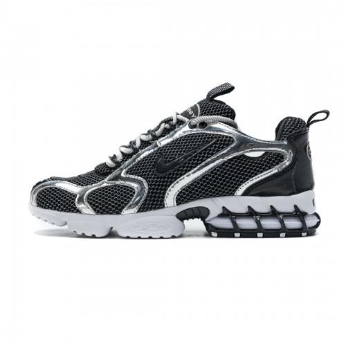 Stussy x Nike Air Zoom Spiridon Cage 2 Black Silver CU1854-001