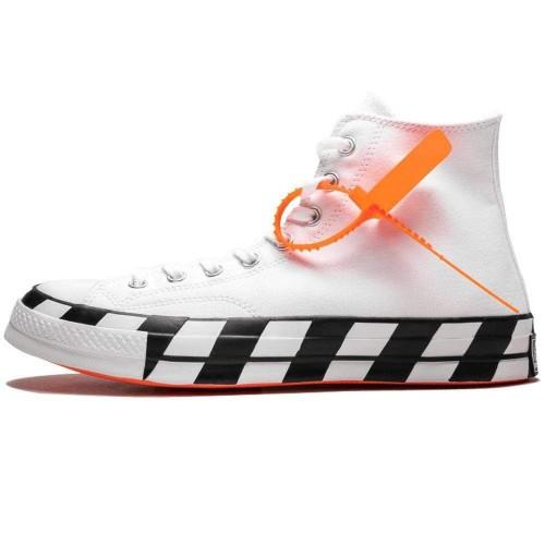 Off-White X Converse Chuck 70 Stripe White 163862C