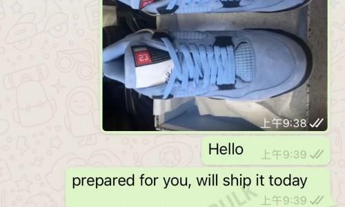 Air Jordan 4 university Blue and off-white Sail Customer reviews of Kickbulk sneaker